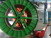 DM Super Power Pusher pushing 40,000Kg cable drum