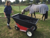 Electric Wheelbarrow for watering horses in commercial stables