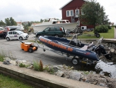 HD Trailer Mover launching pleasure boat from slipway