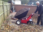 MUV Wheelbarrow to show electric tip of 350Kg load