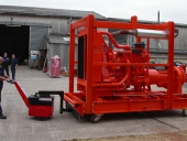 Super Power Pusher moving 5,000Kg Industrial Pump