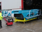 Super Power Pusher moving 6,500Kg trolley