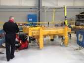 Super Power Pusher moving 9,000Kg trolley in nuclear industry