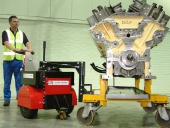 Super Power Pusher moving 7,000Kg diesel engine