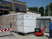 Super Power Pusher moving 7,000Kg chiller unit