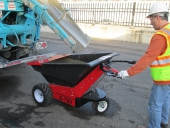 Loading MUV - Electric Wheelbarrow from concrete delivery lorry