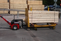 Power Pusher moving timber trolley