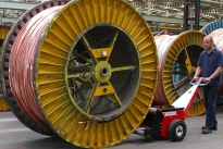 Power Pusher (cable drum pusher) at Prysmian Cables