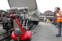 Super Power Pusher pushing 30,000Kg railway wagon for SNCF in France