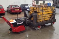 Super Power Pusher with Steering Arm moving 10,300Kg custom trolley