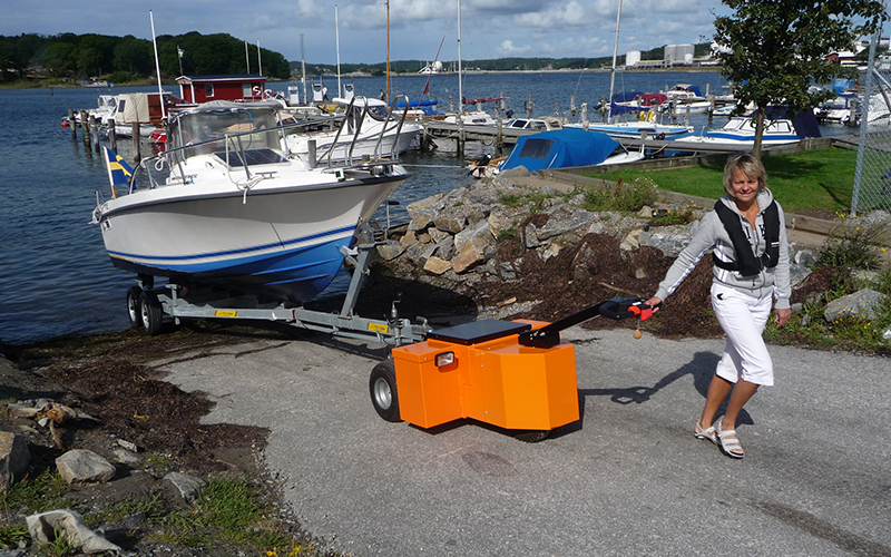 Heavy duty trailer mover from nu star mhl for Motorized boat trailer mover