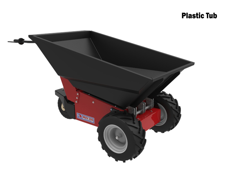 Muv Electric Wheelbarrow Powered Drive Powered Tip