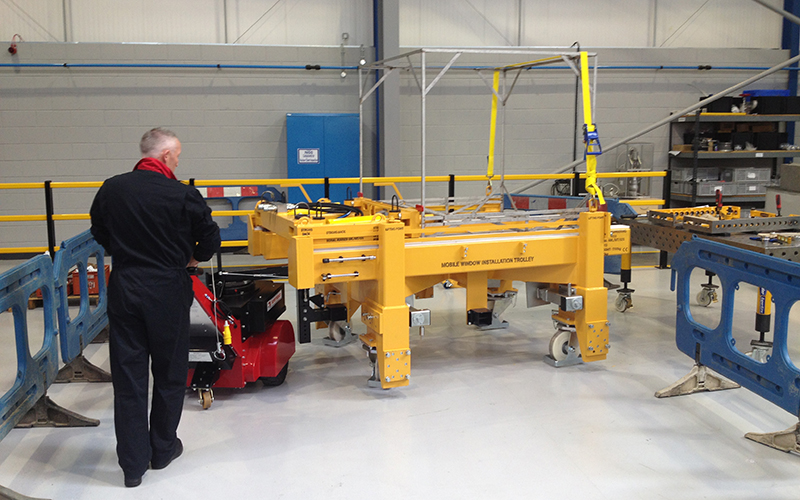 Super Power Pusher moving 9,000Kg trolley for nuclear industry